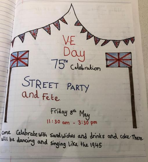 Fatimah's VE day invite