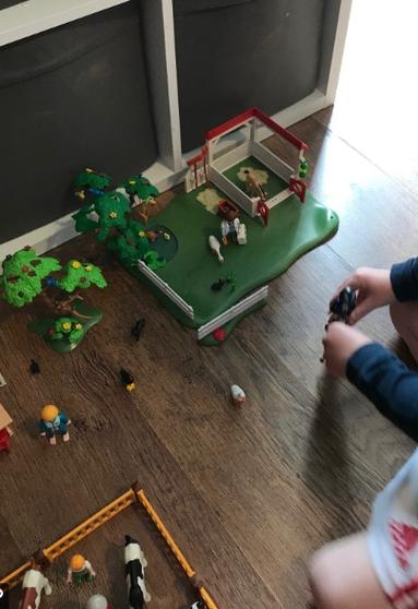 Farm small world play.
