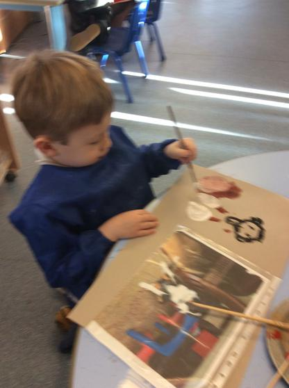 We use colours and shapes to create pictures.