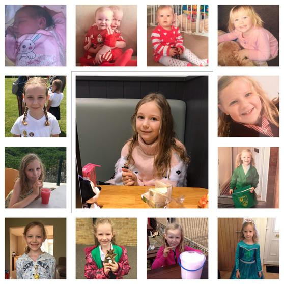 Lily's timeline from birth to ten.
