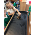 Meeting our giant snail called Bolt.