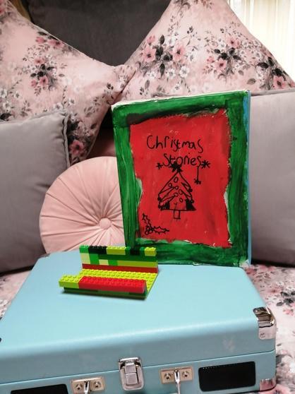 Amelia's lego book stand