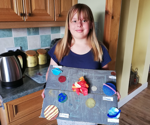 Charlotte made a solar system.