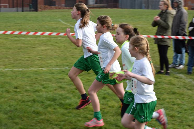 Well done girls for coming 2nd in the relay race!