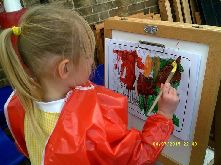 We explore mixing colours.