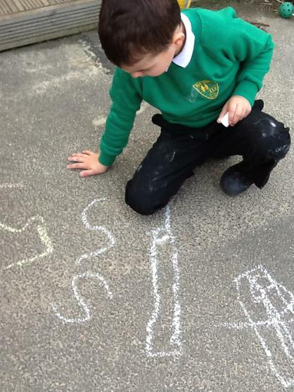 We write with chalks