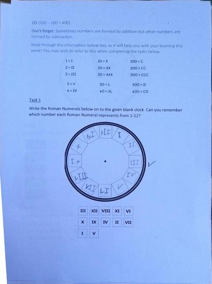Ethan's Maths Work: Roman Numerals