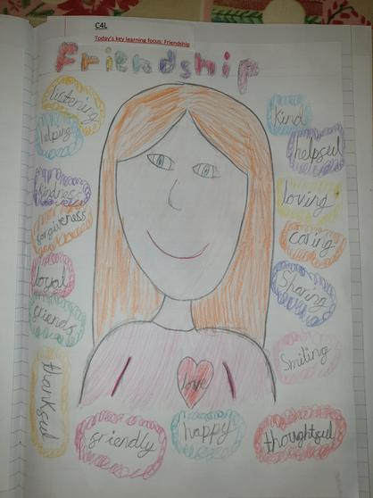 Lucy's C4L poster all about friendship