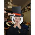 Caelen's snowman mask.