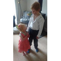 Spanish dancing with his adorable little sister!