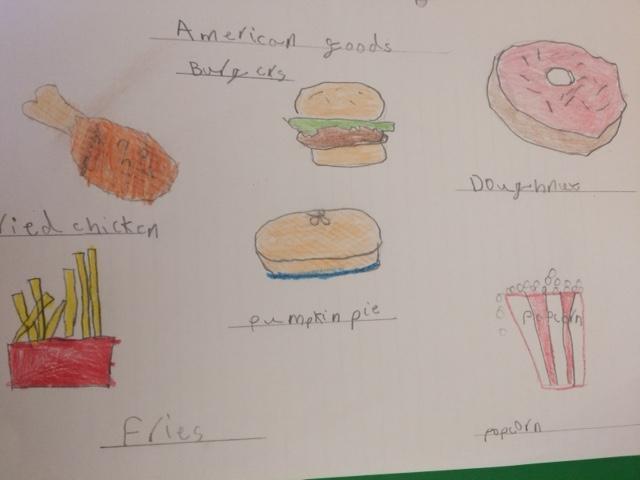 Reuben's list of popular American foods...