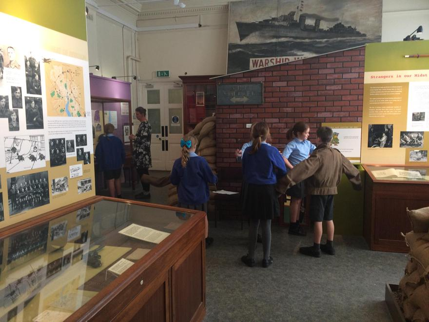 In the museum, investigating artefacts