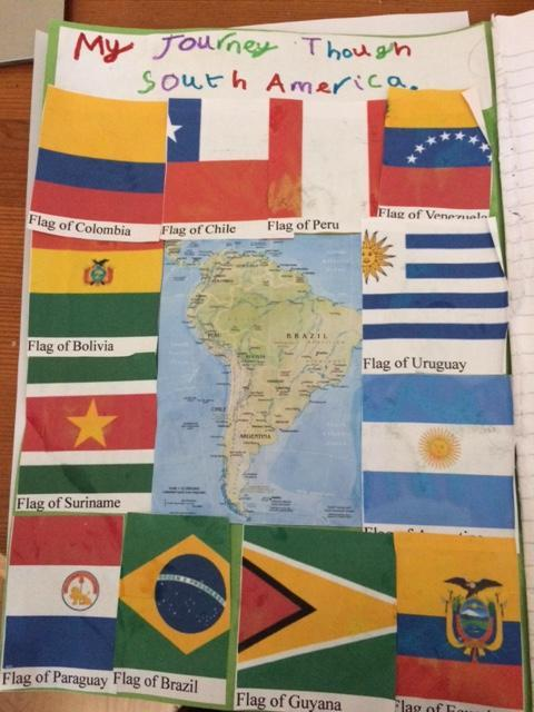 The countries and their flags - well done Reuben