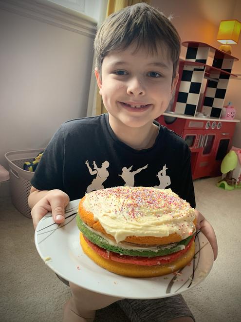 Olly - baked a cake!