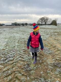 Bethany walking in the countryside