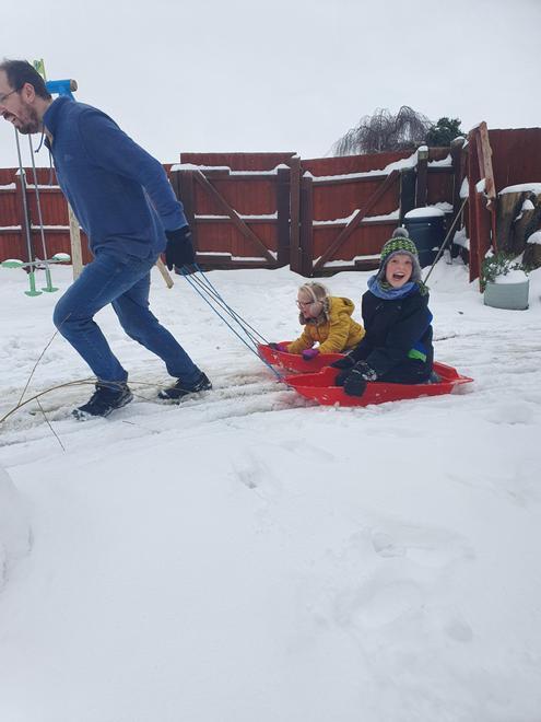 Matthew - fun in the snow