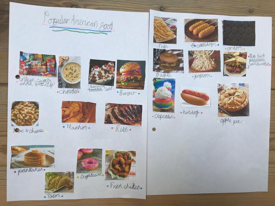 Jackson's list of popular American foods