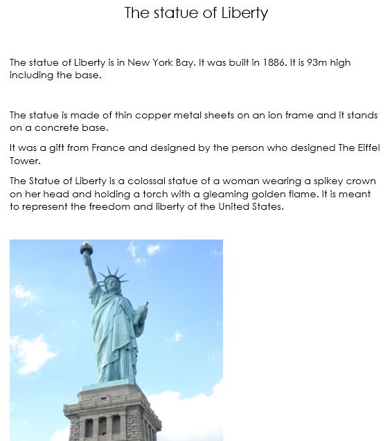 Reuben's famous American landmark.