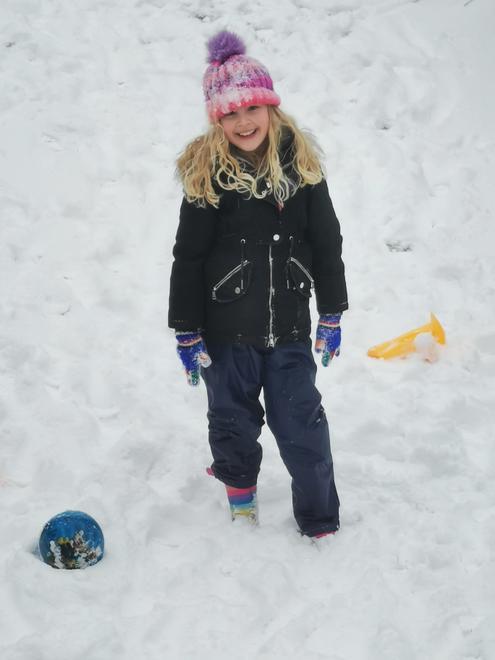 Connie - fun in the snow.