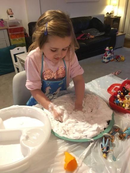 Foam and jelly sensory play