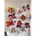 We made beautiful butterflies for the 'Worrysaurus'.