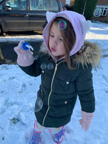 Investigating icy bubbles