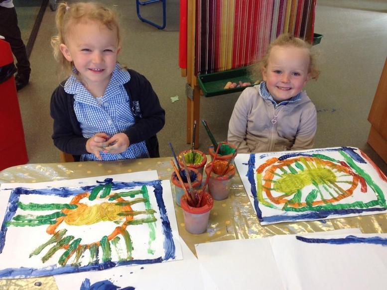 Painting careful patterns