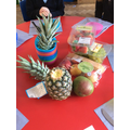 In English we have been writing instructions about how to make a fruit salad.