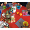 We made our very own fruit salad, it was yummy!