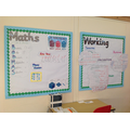 Our Maths Working Wall to show our learning so far