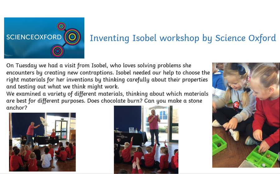 Inventing Isobel Workshop by Science Oxford Wednesday 4th November