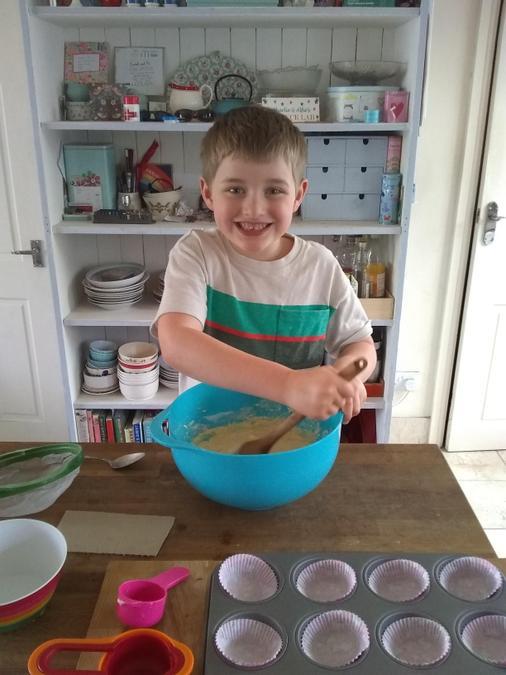 Alfie has been baking buns