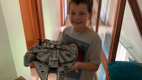 William's Lego Millennium Falcon