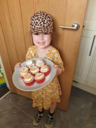 Lola made Victoria Sponges!
