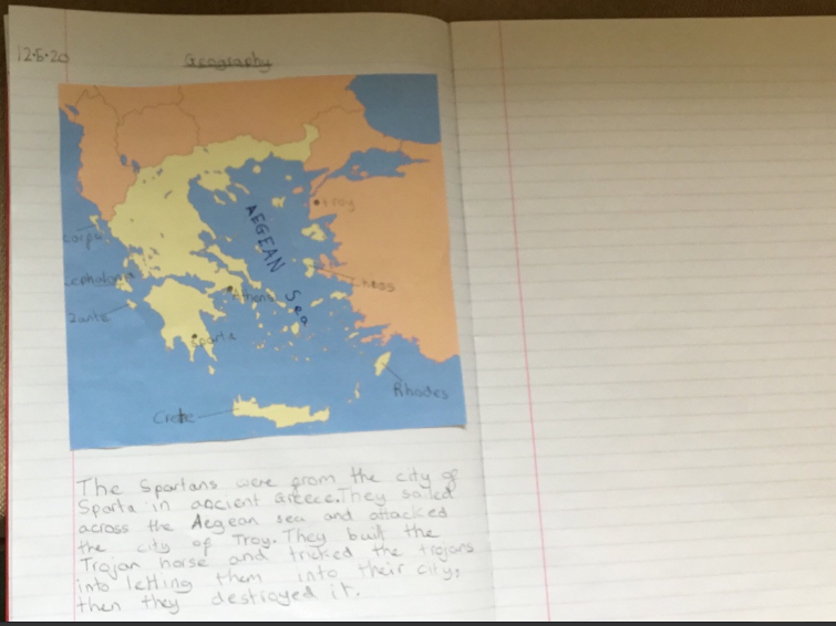 Noah learning about Ancient Greece.