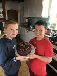 Max and William's Wellbeing Day cake.