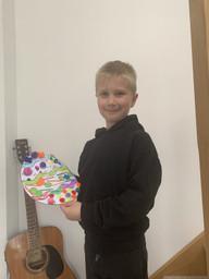 Logan's Creative Easter work!