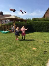 Abigail and Chloe's PE lesson