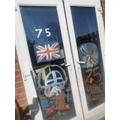 Fantastic VE day decorations at Zak's house.