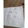 Owen labeled his life cycle diagram.