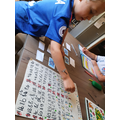 Using a 100 square and learning the 3 x table!