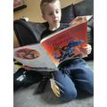 Zak has read a funny book!