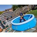 Owen is having fun in his pool!