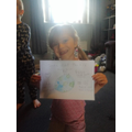 Neve has made a poster about helping the Earth.