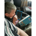 Zak loves to read!
