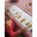 Harper has been making groups of 2 with pasta.