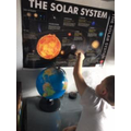 Learning about the solar system.