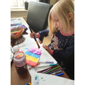 VE day bunting painting.