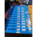 Owen is learning his 10 times tables.