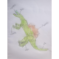Anthony labelled his dinosaur.